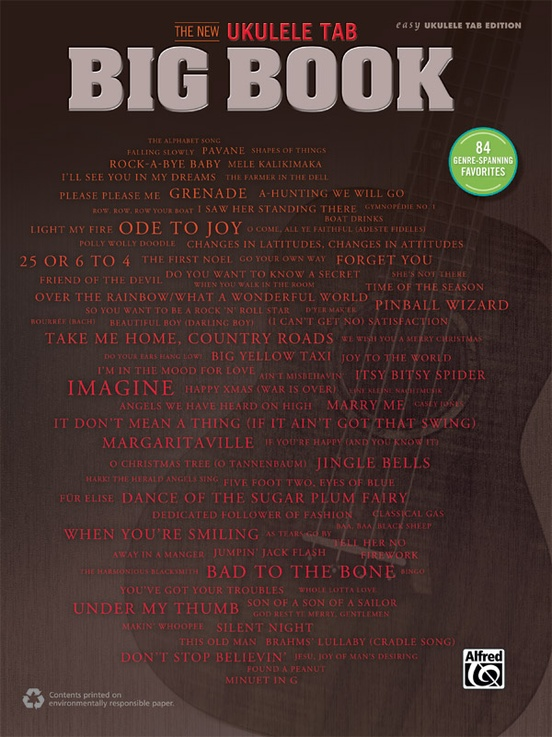 The New Ukulele Tab Big Book Easy Ukulele Tab Book