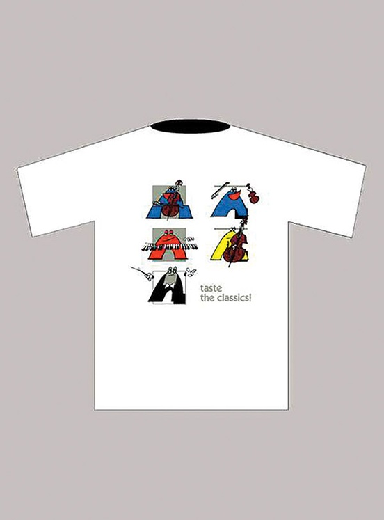 Taste the Classics! T-Shirt: White (Extra Large)