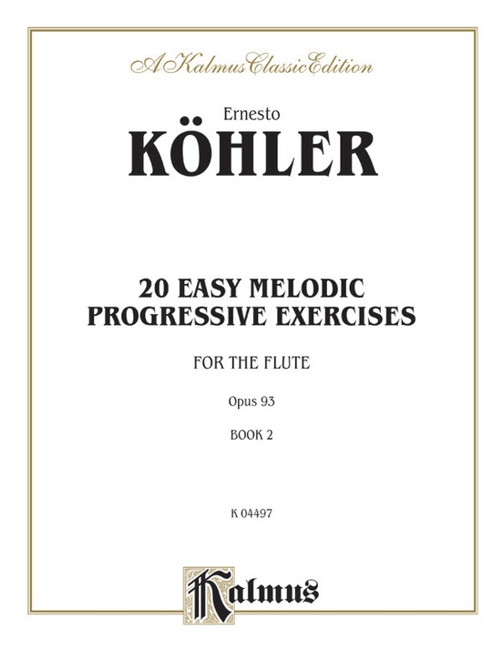 Twenty Easy Melodic Progressive Exercises, Opus 93, Book II