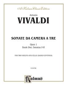 Sonatas da Camera a Tre, Opus 1 (Volume I, Nos. 1-6)