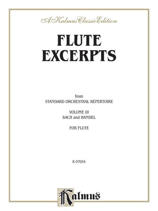 Flute Excerpts, Book III