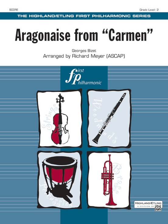 Aragonaise from Carmen: Full Orchestra Conductor Score & Parts ...