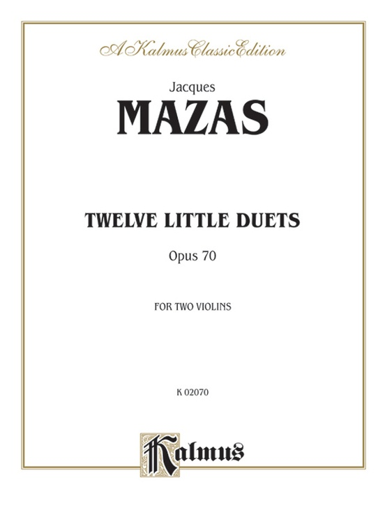 Twelve Little Duets, Opus 70