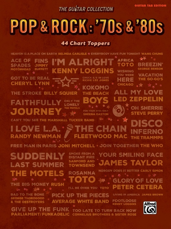 The Guitar Collection, Pop & Rock: \'70s & \'80s: Guitar TAB Edition Book