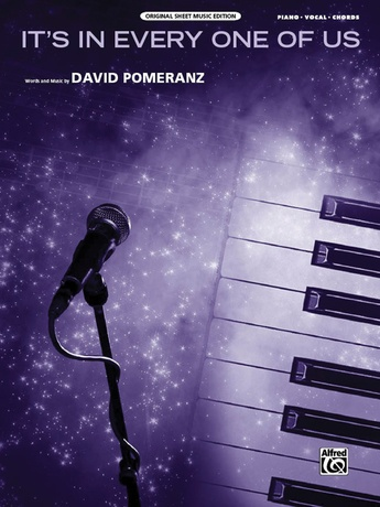 Its In Every One Of Us David Pomeranz Pianovocalchords Sheet Music