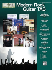 10 for 10 Sheet Music: Modern Rock Guitar Tab