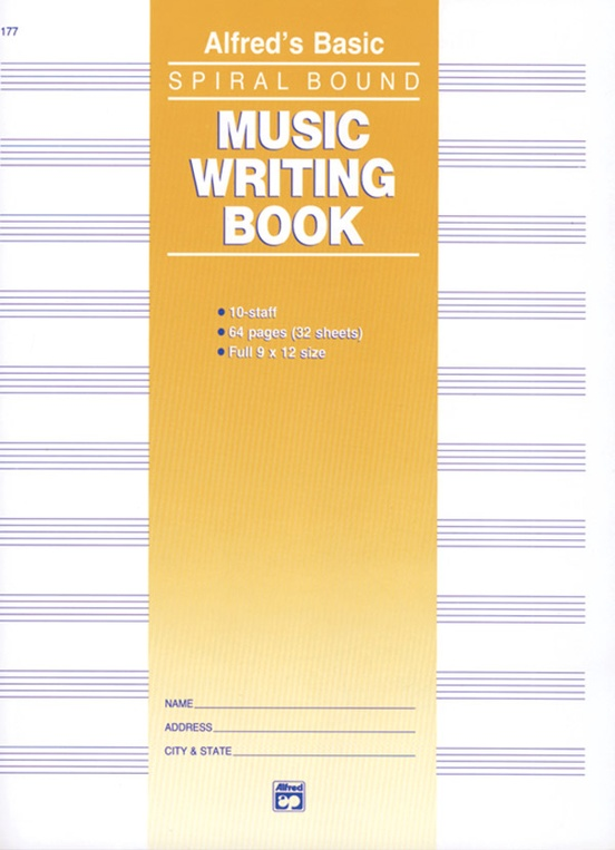 """Music Writing Book (9"""" x 12""""), 10-Stave"""