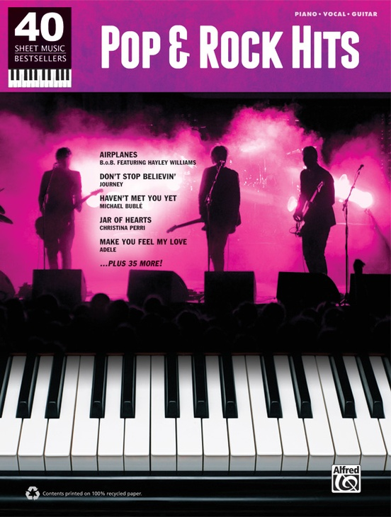 40 Sheet Music Bestsellers: Pop & Rock Hits