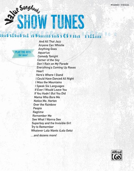 Value Songbooks: Show Tunes