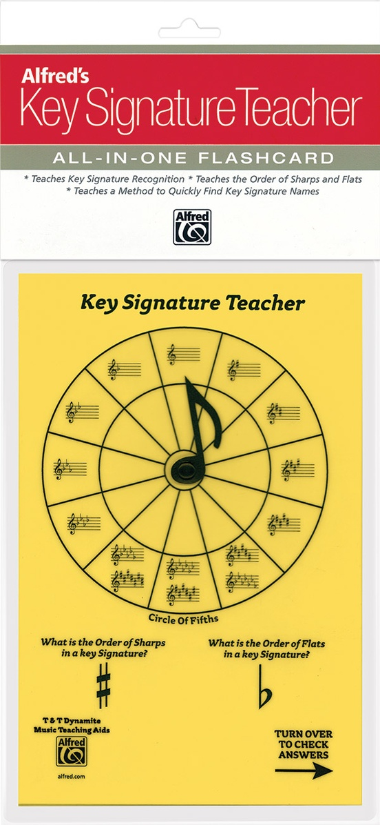 Alfred's Key Signature Teacher: All-In-One Flashcard (Yellow)
