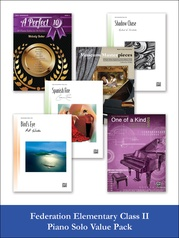 Federation Elementary Class II Piano Solo (Value Pack)