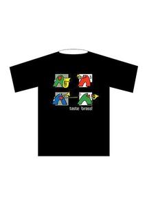 Taste Brass! T-Shirt: Black (Medium)