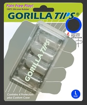 Gorilla Tips Fingertip Protectors Clear Size Large