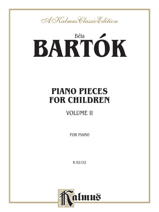 Piano Pieces for Children, Volume II