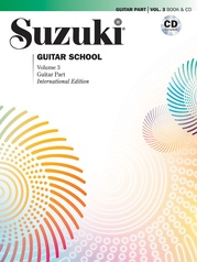 Suzuki Guitar School Guitar Part and CD, Volume 3