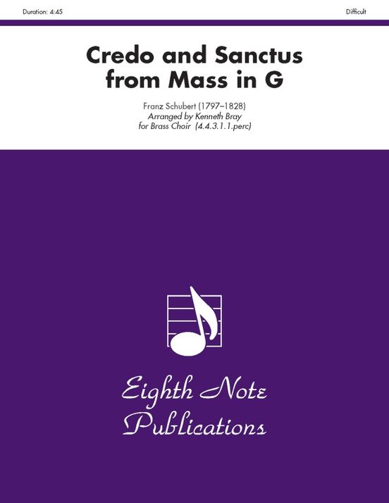 Credo and Sanctus (from Mass in G)