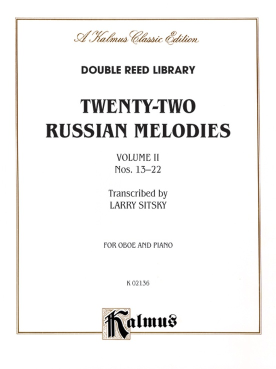 Twenty-Two Russian Melodies, Volume 2, Nos. 13-22