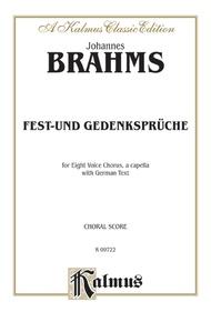 Fest-und Gedenksprüche, Opus 109