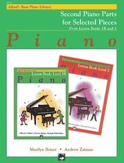 Alfred's Basic Piano Library: Lesson Book 1B & 2 (Second Piano Parts)