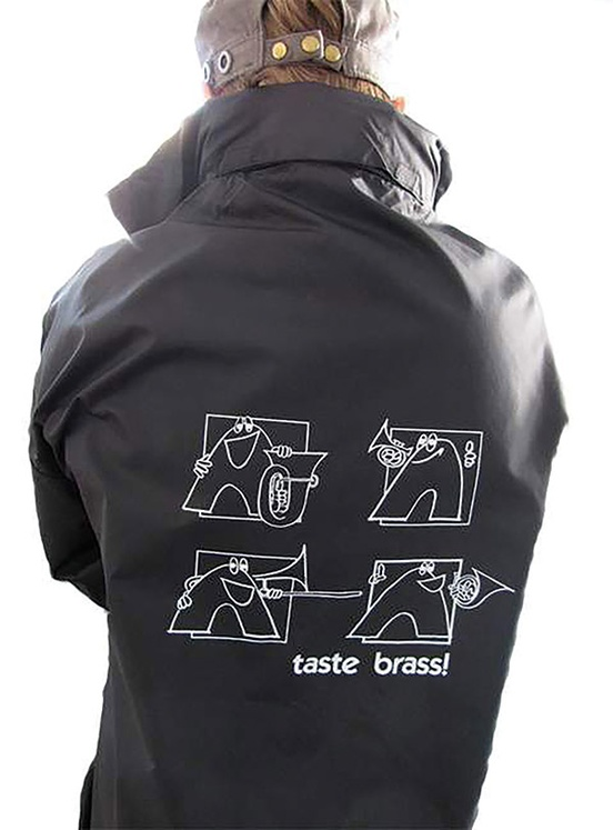 Taste Brass! Raincoat: Black (Medium)