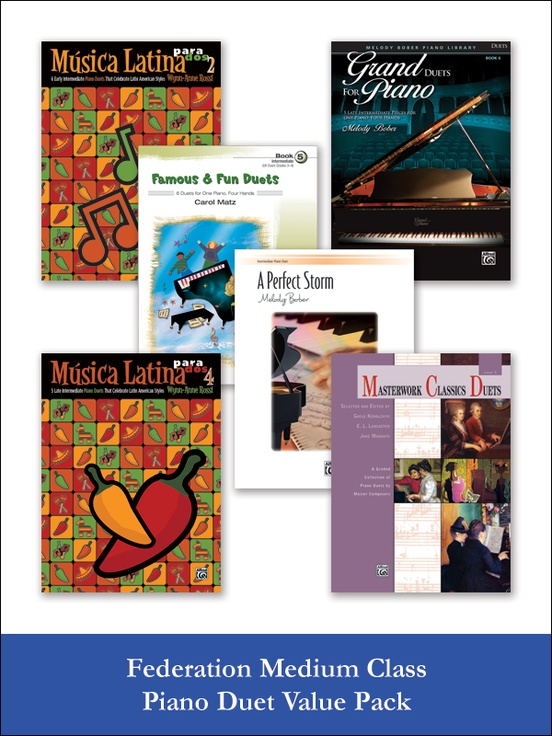 Federation Medium Class Piano Duet (Value Pack)