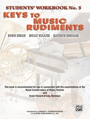 Keys to Music Rudiments: Students' Workbook No. 3