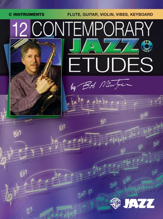 12のコンテンポラリー・ジャズ・エチュード(ボブ・ミンツァー)(ヴァイオリン)【12 Contemporary Jazz Etudes】