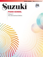 Suzuki Piano School New International Edition Piano Book and CD, Volume 6
