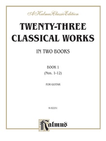 Twenty-Three Classical Works for Two Guitars, Book 1