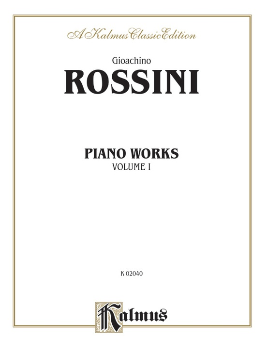 Piano Works, Volume I