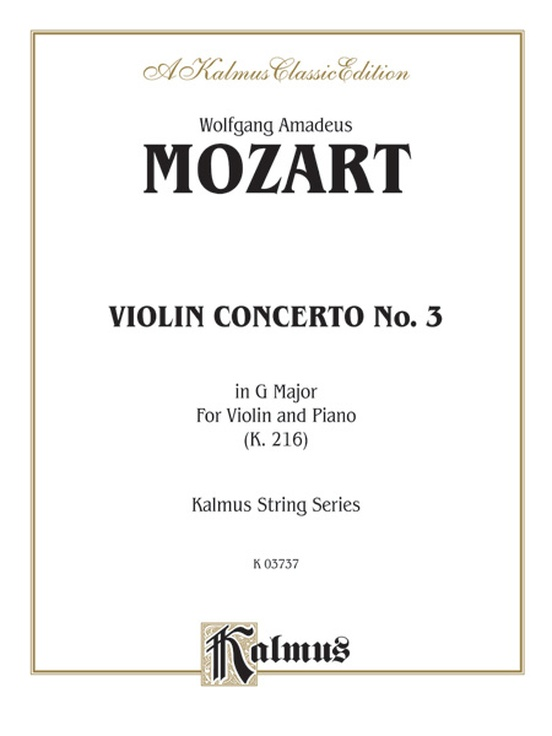 Violin Concerto No. 3 in G Major, K. 216