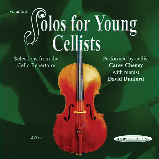 Solos for Young Cellists CD, Volume 3
