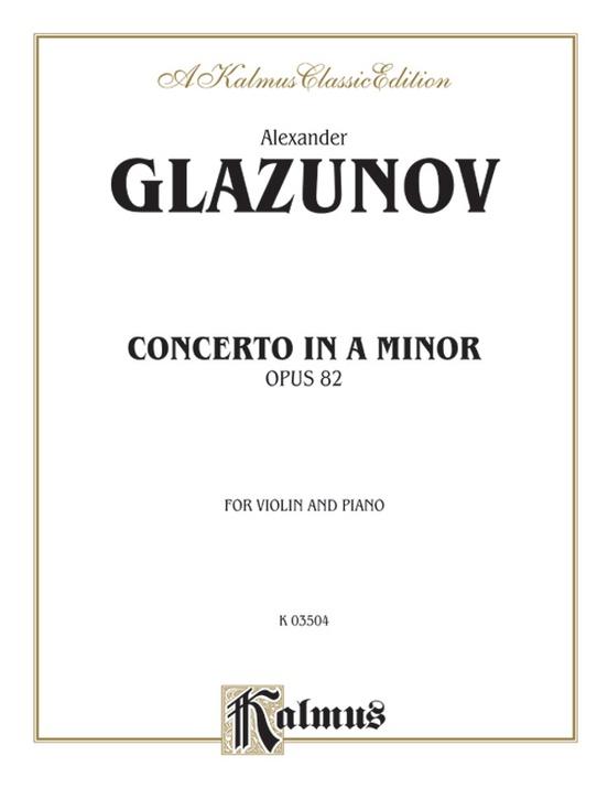Concerto in A Minor, Opus 82