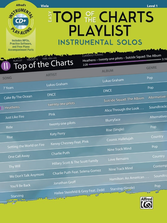 Easy Top of the Charts Playlist Instrumental Solos for Strings