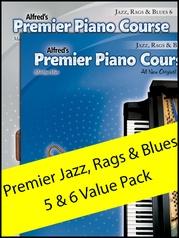 Premier Piano Course Jazz, Rags & Blues 5-6 (Value Pack)