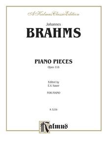 Piano Pieces, Opus 118