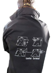 Taste Brass! Raincoat: Black (Extra Large)