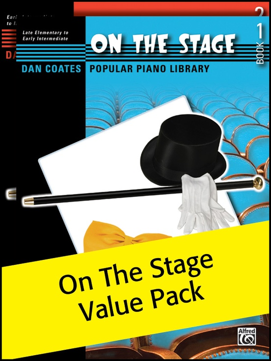 Dan Coates Popular Piano Library: On the Stage 1-2 (Value Pack)