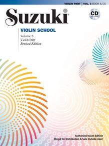 Suzuki Violin School Violin Part & CD, Volume 3 (Asian Edition) (Revised)