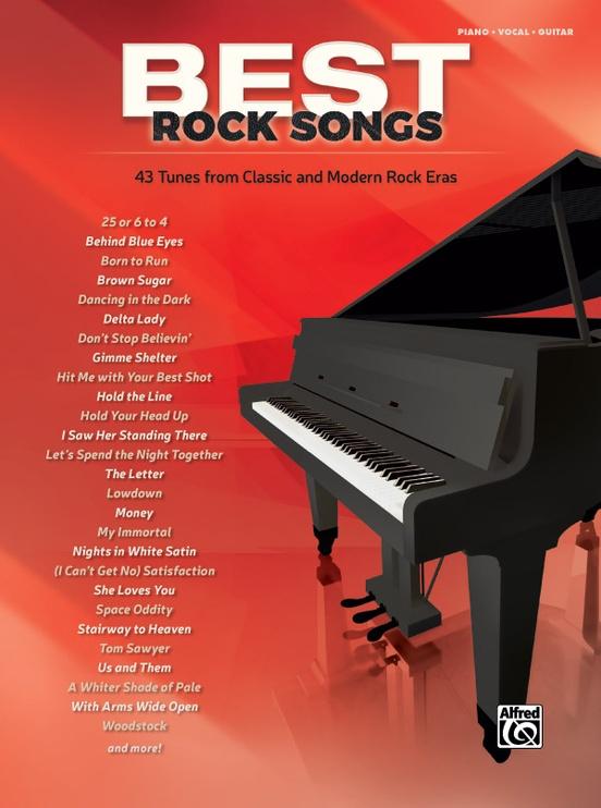 Best Rock Songs Pianovocalguitar Book