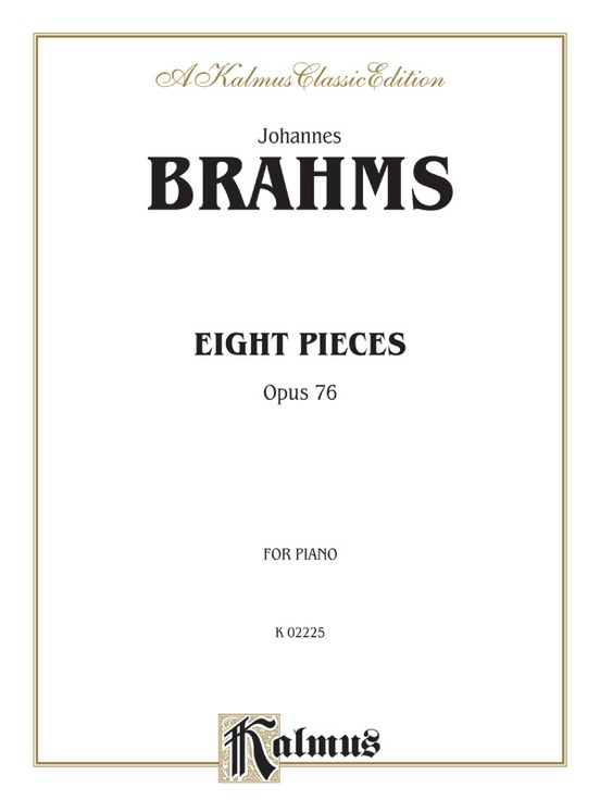 Eight Pieces, Opus 76