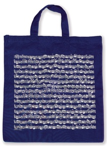 Tote Bag: Sheet Music (Navy)