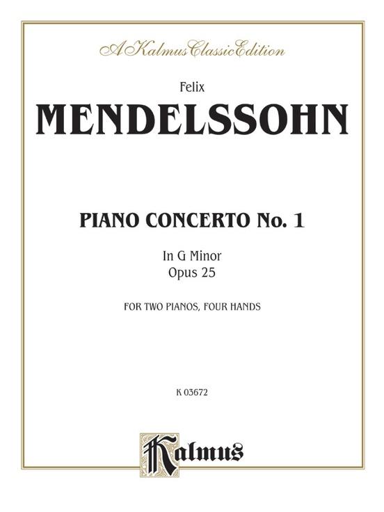 Piano Concerto No. 1 in G Minor, Opus 25