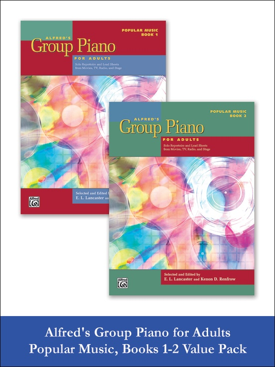 Alfred S Group Piano For Adults Popular Music Books 1 2 Piano Book