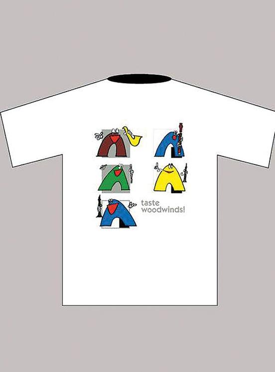 Taste Woodwinds! T-Shirt: White (Children's Medium)