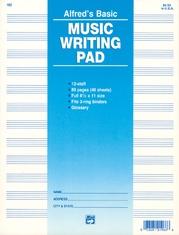 "12 Stave Music Writing Pad (8 1/2"" x 11"")"