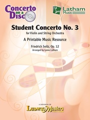 Seitz Student Concerto No. 3 - String Orchestra Parts on CD