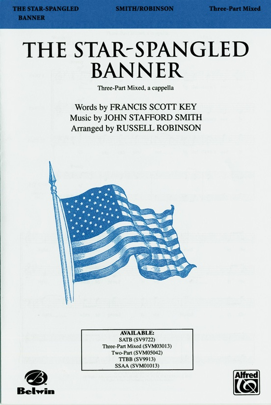 The Star Spangled Banner 3 Part Mixed A Cappella Choral Octavo John Stafford Smith