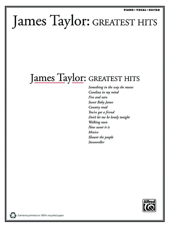 James Taylor: Greatest Hits: Piano/Vocal/Guitar Book: James Taylor