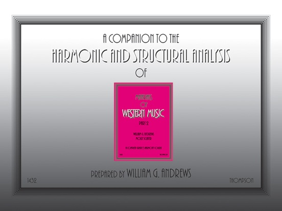 Companion to the Harmonic and Structural Analysis of the Materials of Western Music